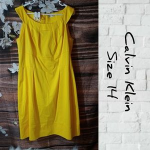 Calvin Klein 🌞 shine yellow dress.